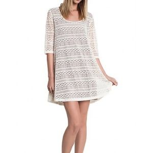 Umgee cream dress mini 3 quarter sleeve